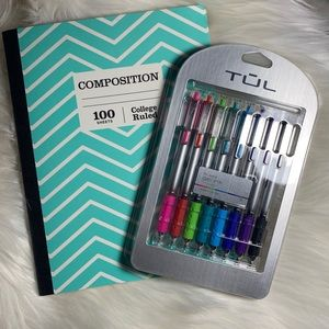 Other - Tul gel ink pens and composition notebook
